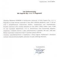 Grupa Łagrom Chłodnia Składowa, Czachorowo Sp z o.o. 10.03.2004