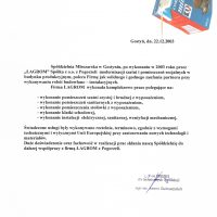 Spółdzielnia Mleczarska w Gostyniu 22.12.2003