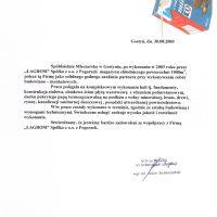 Spółdzielnia Mleczarska w Gostyniu 30.08.2003